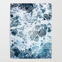 Ocean Mandala - My Wild Heart Poster