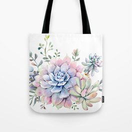 succulent watercolor 1 Tote Bag