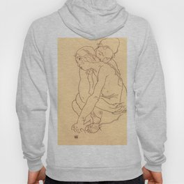 "Egon Schiele ""Woman and Girl Embracing"" Hoody"