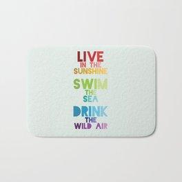 Live in the Sunshine Bath Mat