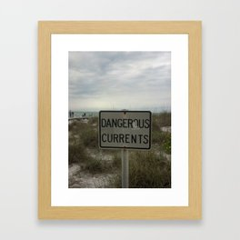 Dangerous Currents Framed Art Print
