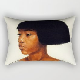 African American Masterpiece ''Harlem Girl' portrait painting by Winold Reiss Rectangular Pillow