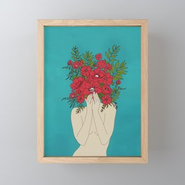 Blooming Red Framed Mini Art Print
