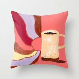 Morning Coffee Feels Like Throw Pillow
