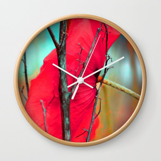 Floral abstract(8). Wall Clock