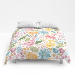 Such Pretty Summer Flowers Comforters