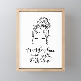 McAuley Bun Framed Mini Art Print