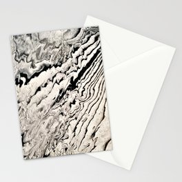 Black and white abstract pattern acrylic Stationery Cards