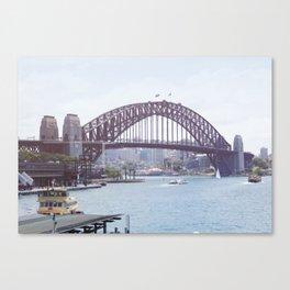 The harbour bridge Canvas Print