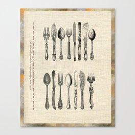 antique cutlery Canvas Print
