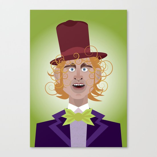 Willy Wonka from Charlie and the chocolate factory, played by the great Gene Wilder Canvas Print
