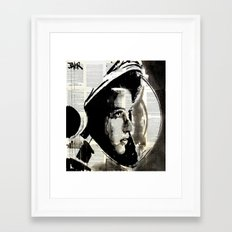THE ASTRONAUT Framed Art Print