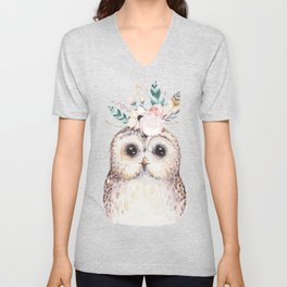 Forest Owl by Nature Magick Unisex V-Neck