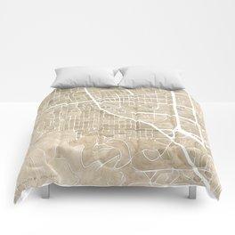Boulder Colorado Watercolor Map Comforters