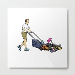 mow the lawn Metal Print