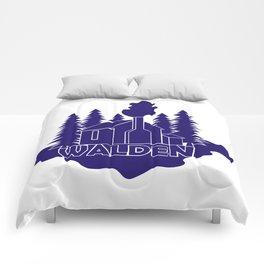 Walden - Henry David Thoreau (Blue version) Comforters