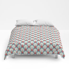 Bulbuous CHERRY MINT Comforters