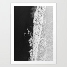 Ocean Surfing Girls Art Print