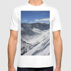 Blue Lakes Mens Fitted Tee White MEDIUM