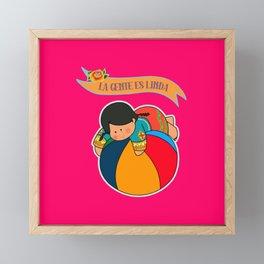 La Gente es Linda Framed Mini Art Print