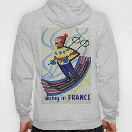 Vintage poster - Skiing in France Hoody