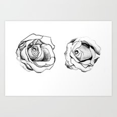 Two Roses for my Friends Art Print