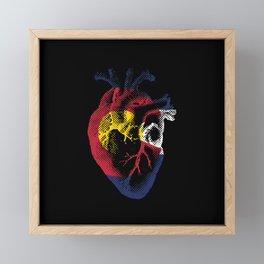 Colorado Heart Framed Mini Art Print