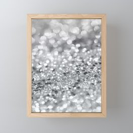 Silver Gray Lady Glitter #1 #shiny #decor #art #society6 Framed Mini Art Print