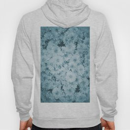 photography and illustration of daisy flowers in turquoise perfect for clothes, gifts, products. Hoody