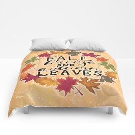 Fall Breeze And Autumn Leaves Comforters