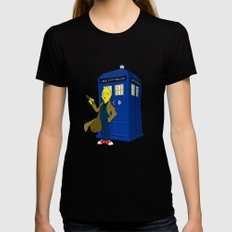 Doctor Lemongrab  MEDIUM Black Womens Fitted Tee