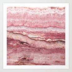 Mystic Stone Blush Art Print