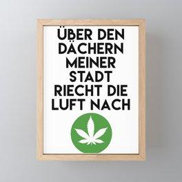 PALMEN AUS PLASTIK - Marihuana 187 Lyrics Framed Mini Art Print