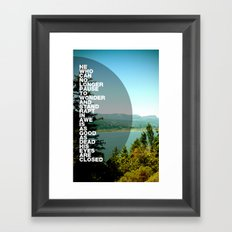Stand Rapt in Awe Framed Art Print