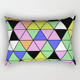 Pastel Triangles - Pastel themed, geometric, abstract, triangular pattern Rectangular Pillow