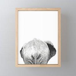 Black and white elephant animal jungle Framed Mini Art Print