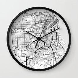 Scandinavian map of San Francisco Penninsula Wall Clock