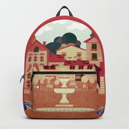 Ancient houses 5 Backpack