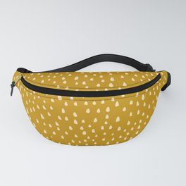 Mustard Paint Drops Fanny Pack