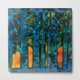 turquoise trees_katallie Metal Print