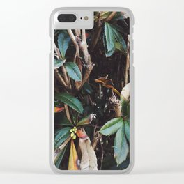 Aesthetic Leaves Clear iPhone Case