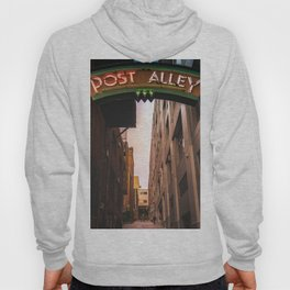 Post Alley in Seattle Washington Hoody