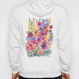 Bright Summer Garden Hoody