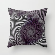 Purple and Gray Throw Pillow