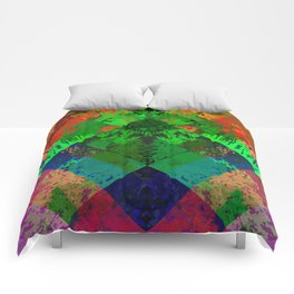 Beauty In Symmetry - Abstract, geometric, textured, symmetrical artwork Comforters