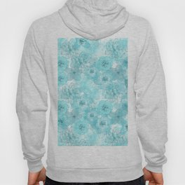 Turquoise aqua flower lace pattern Hoody