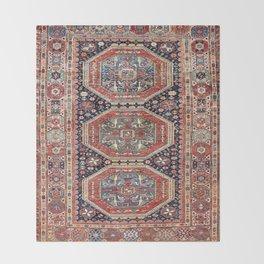 Kuba Sumakh Antique East Caucasus Rug Print Throw Blanket