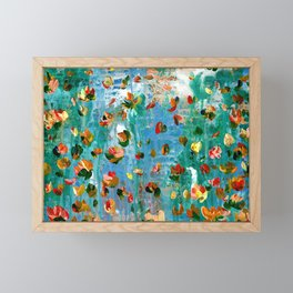 Abstract Floral - Everything Is Falling Into Place Framed Mini Art Print