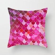 PINK  MERMAID Throw Pillow