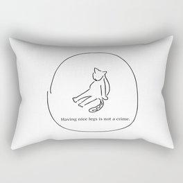 Having nice legs Rectangular Pillow